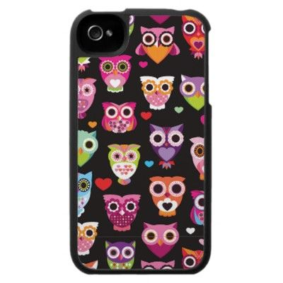 Cute retro owl pattern illustrated iphone case