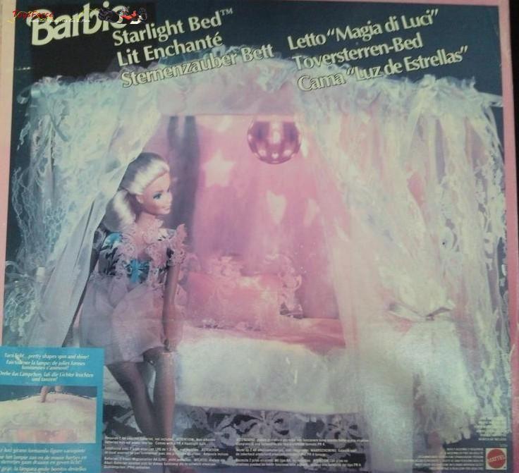 Vendo letto di Barbie Magie di Luce IN SCATOLA, NUOVO MAI APERTO di fine anni80/inizi anni 90.  Non è mai stato aperto che non mi sono mai piaciute le Barbie e quindi è sempre rimasto accantonato.  Vendo per € 55   spese di spedizione.  Accetto Pagamento postepay  l'immagine del letto è stata prasa su internet in quanto lo scatolo è sigillato!!!!