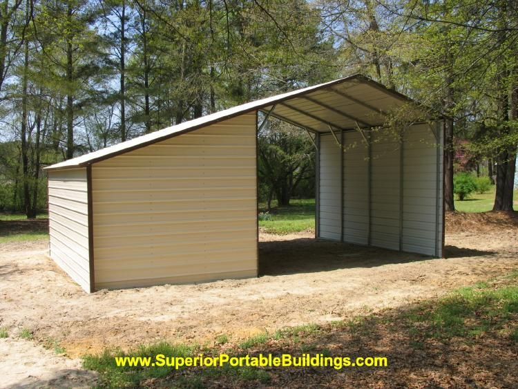 Shed With Carport Attached