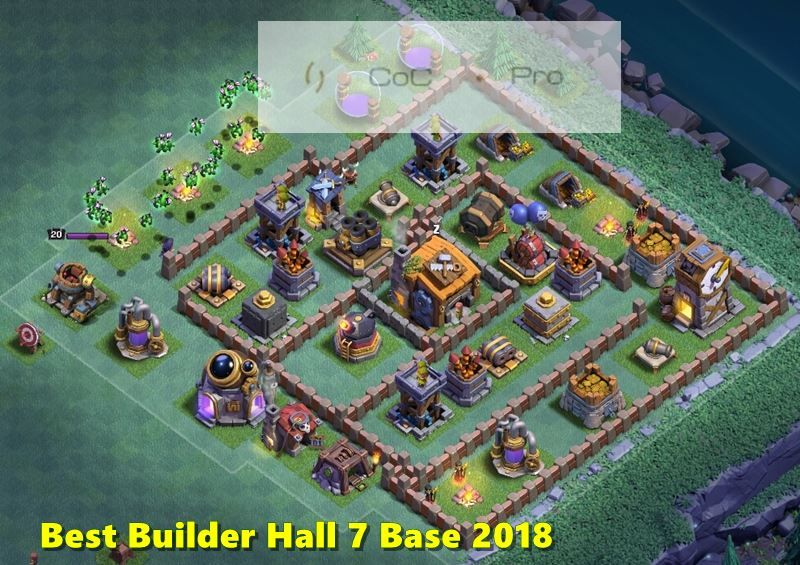 New Clash Of Clans Builder Hall 7 Bases Latest Bh 7 Base Anti Everything 2 Star Layout Bh 7 Base 2018 Coc Bh7 Defe Clash Of Clans New Clash Of Clans Layout