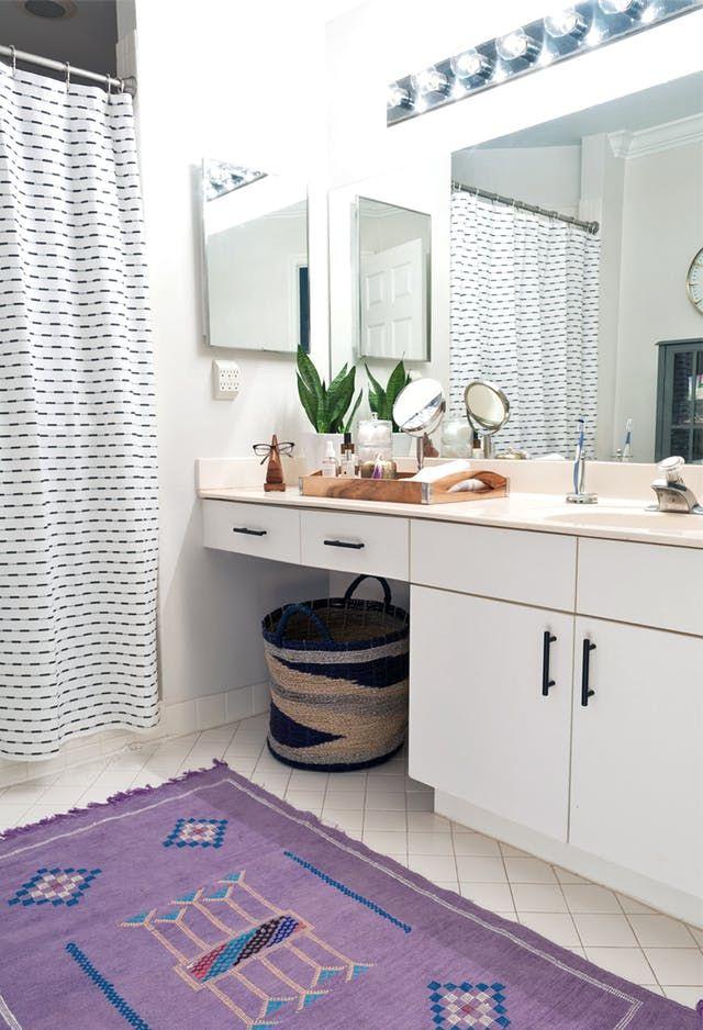 Diy Rental Bathroom Makeover Idea In 2020 Rental Bathroom Makeover Bathroom Makeover Rental Makeover