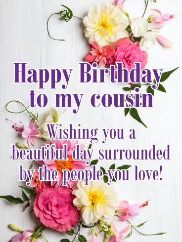Have A Beautiful Day Happy Birthday Card For Cousin Lovely Pink