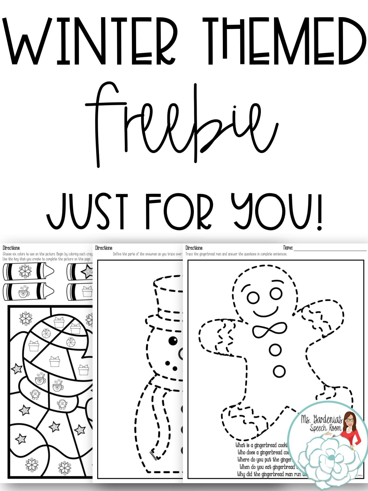 Get Three Free No Prep Winter Themed Worksheets By Signing