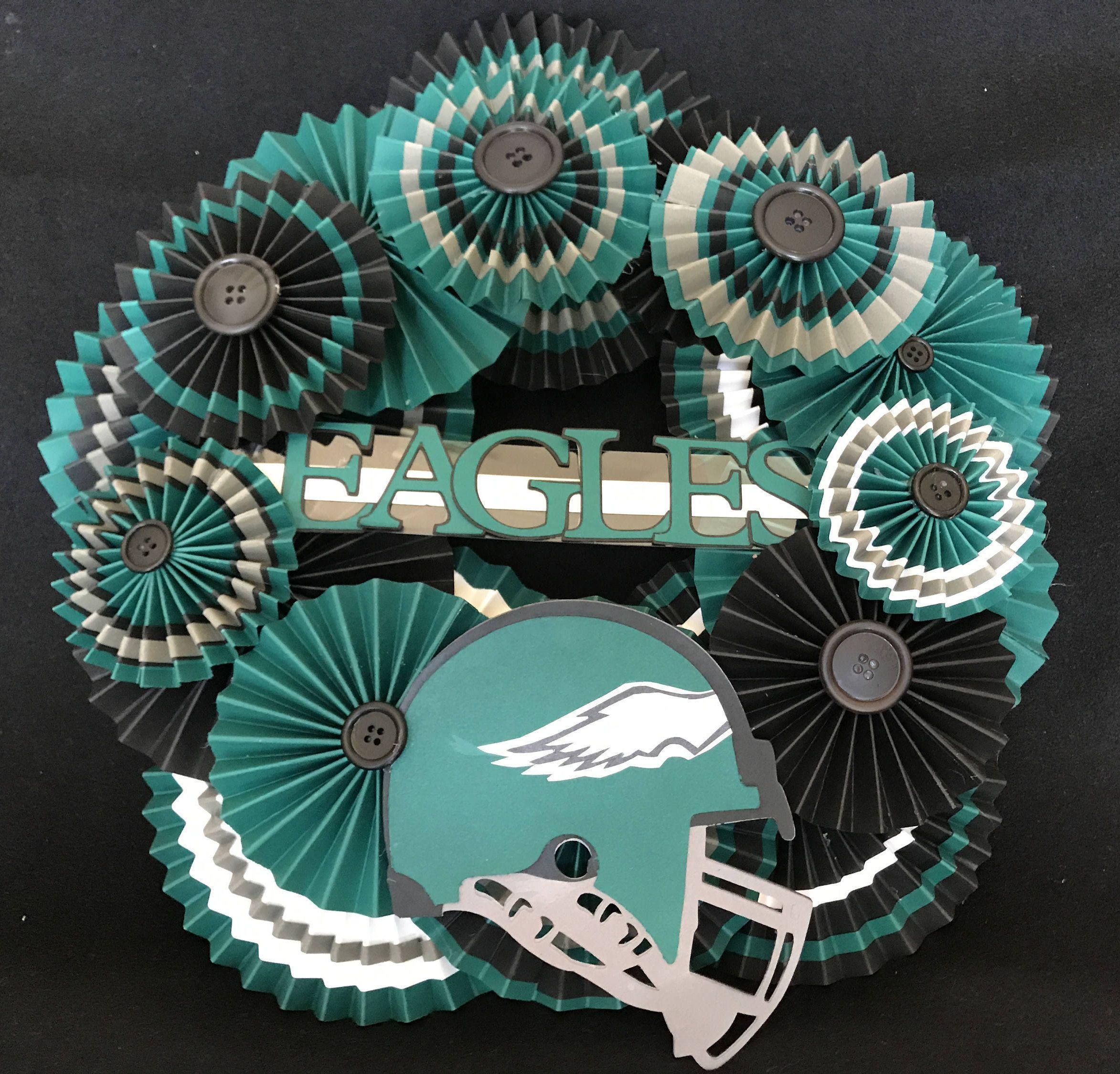 Philadelphia eagles paper rosette wreath | Pinterest