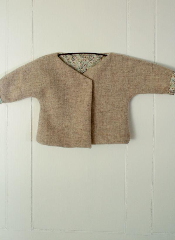 Felted Wool Baby Jacket   sweet baby   Pinterest   Nähen, Häkeln und ...