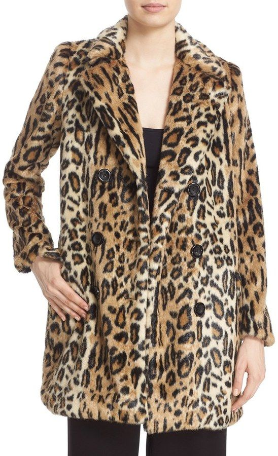 a1bfc87282 We need this Alice + Olivia leopard print coat in our closet ...