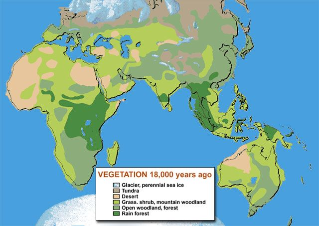 Australia Map Vegetation 200 Years Ago.Ice Age Vegetation Maps Map Globe Historical Maps Cartography