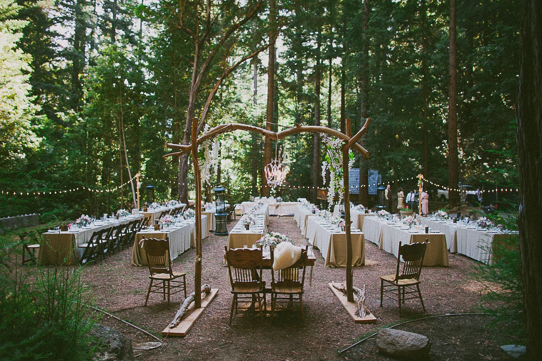 Woodsy Santa Cruz Mountains Barn Wedding Redwoods Forest