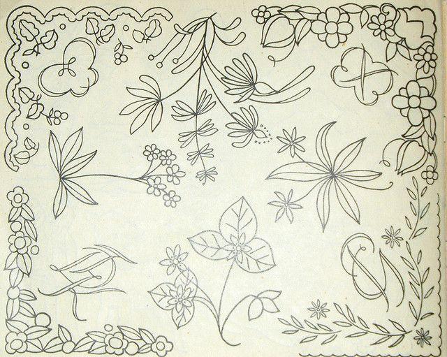 Vintage Embroidery Patterns By Vakuoli Via Flickr Embroidery