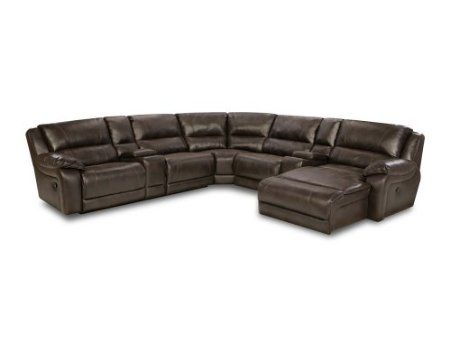 Fine Amazon Com Simmons 50660 Blackjack Brown Leather Sectional Pabps2019 Chair Design Images Pabps2019Com