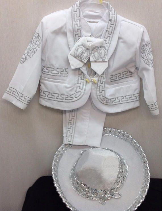 Traje de charro mariachi mexicano bordado para bebe nino - Traje de duende para nino ...