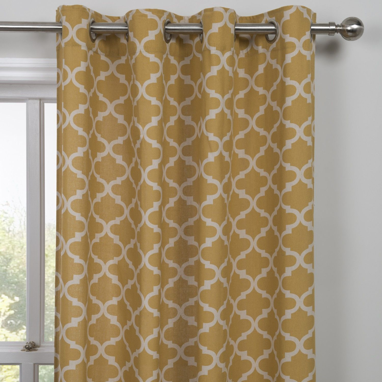Dining Room Idea Buy Moroccan Yellow Single Panel Curtain