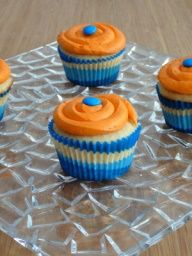 Sugar Cookie Cupcakes with Orange Buttercream