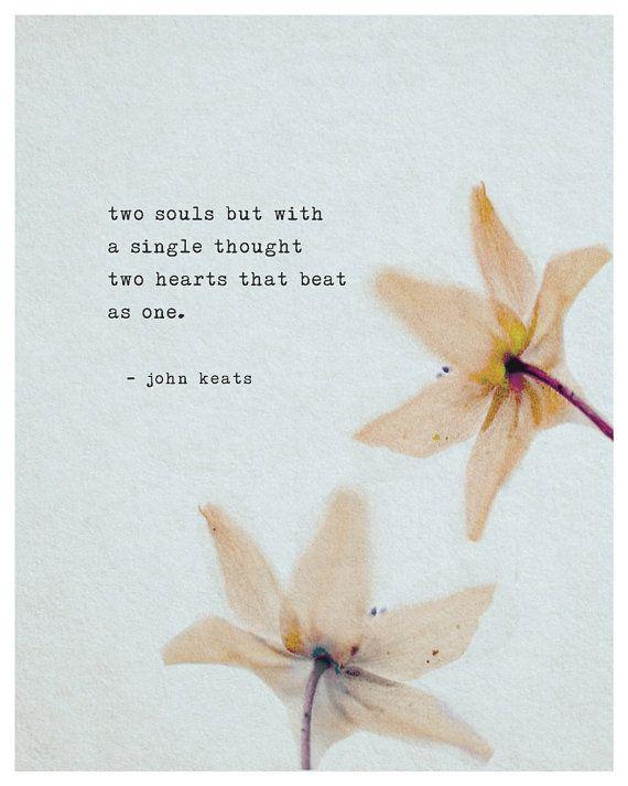 John Keats Poetry Art Love Poem Poster Two by Riverwaystudios