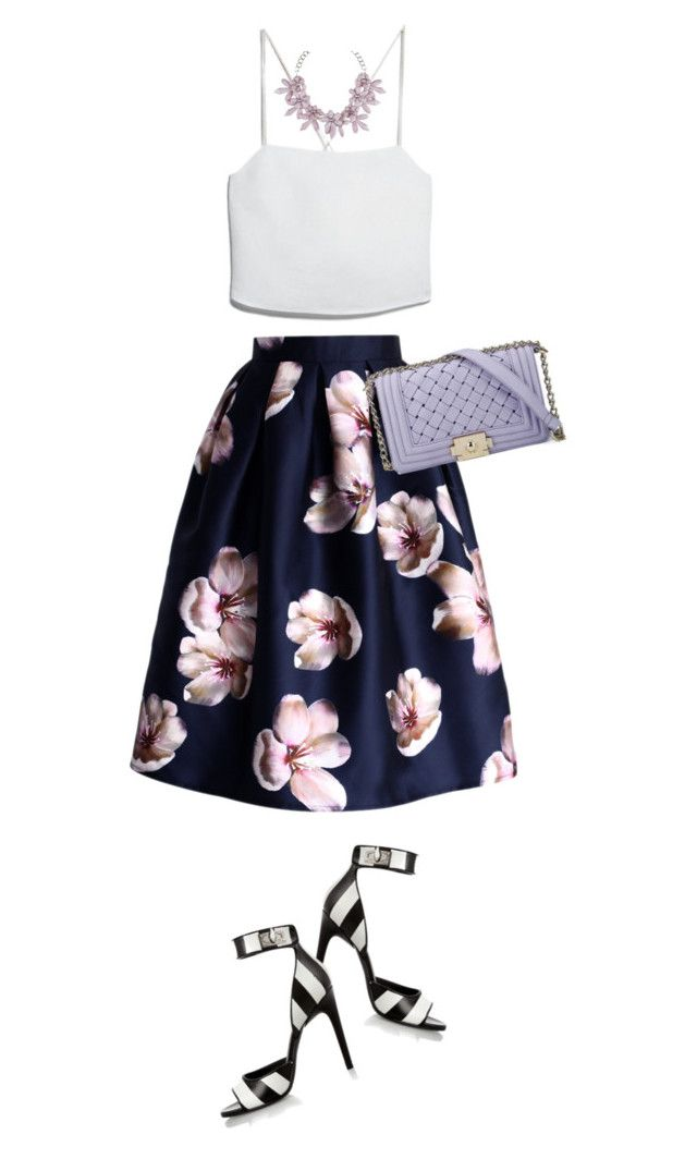"""""""Blossom"""" by martina-hel ❤ liked on Polyvore featuring Givenchy, Chicwish, MANGO and sweet deluxe"""