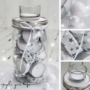 teelicht adventskalender im glas gifts and do it yourself gifts pinterest christmas. Black Bedroom Furniture Sets. Home Design Ideas