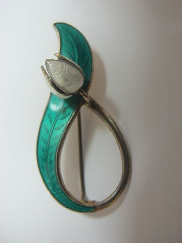 David Andersen Sterling Silver Norway Vintage Enamel Pin