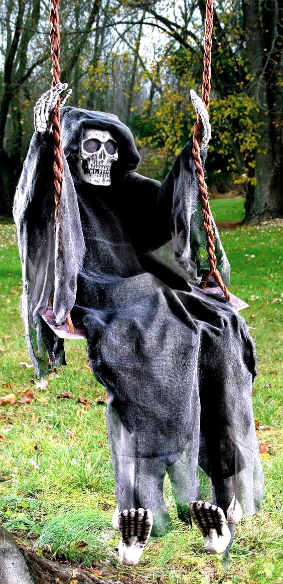 Reaper 60 Inch Swinging Dead Halloween Decorations Indoor Scary Scary Halloween Decorations Outdoor Outdoor Halloween