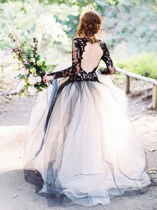 Black Wedding Gown Ball Gown Wedding Dresses Wedding Dress With Sleeves Tulle Bridal Gown Wd00072 Black Lace Wedding Black Lace Wedding Dress Ball Gowns Wedding