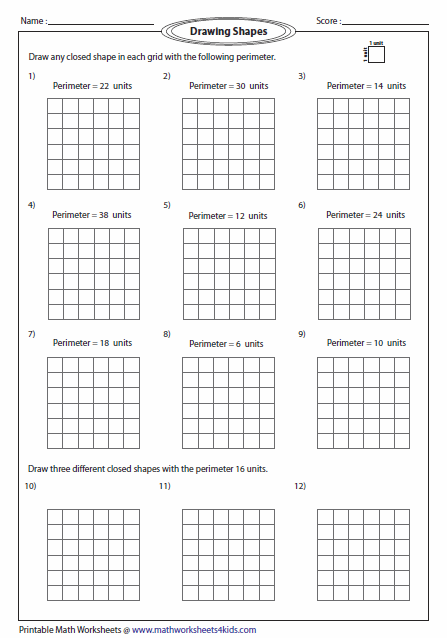 Perimeter Worksheets Perimeter Worksheets 3rd Grade Math Worksheets Area And Perimeter