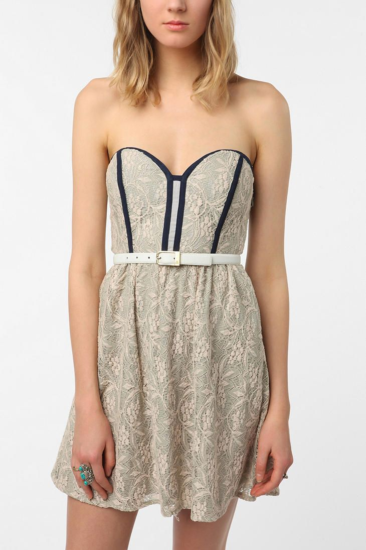 Pins And Needles Clothing Pins And Needles Strapless Lace Dress  Lace Dress Urban Outfitters