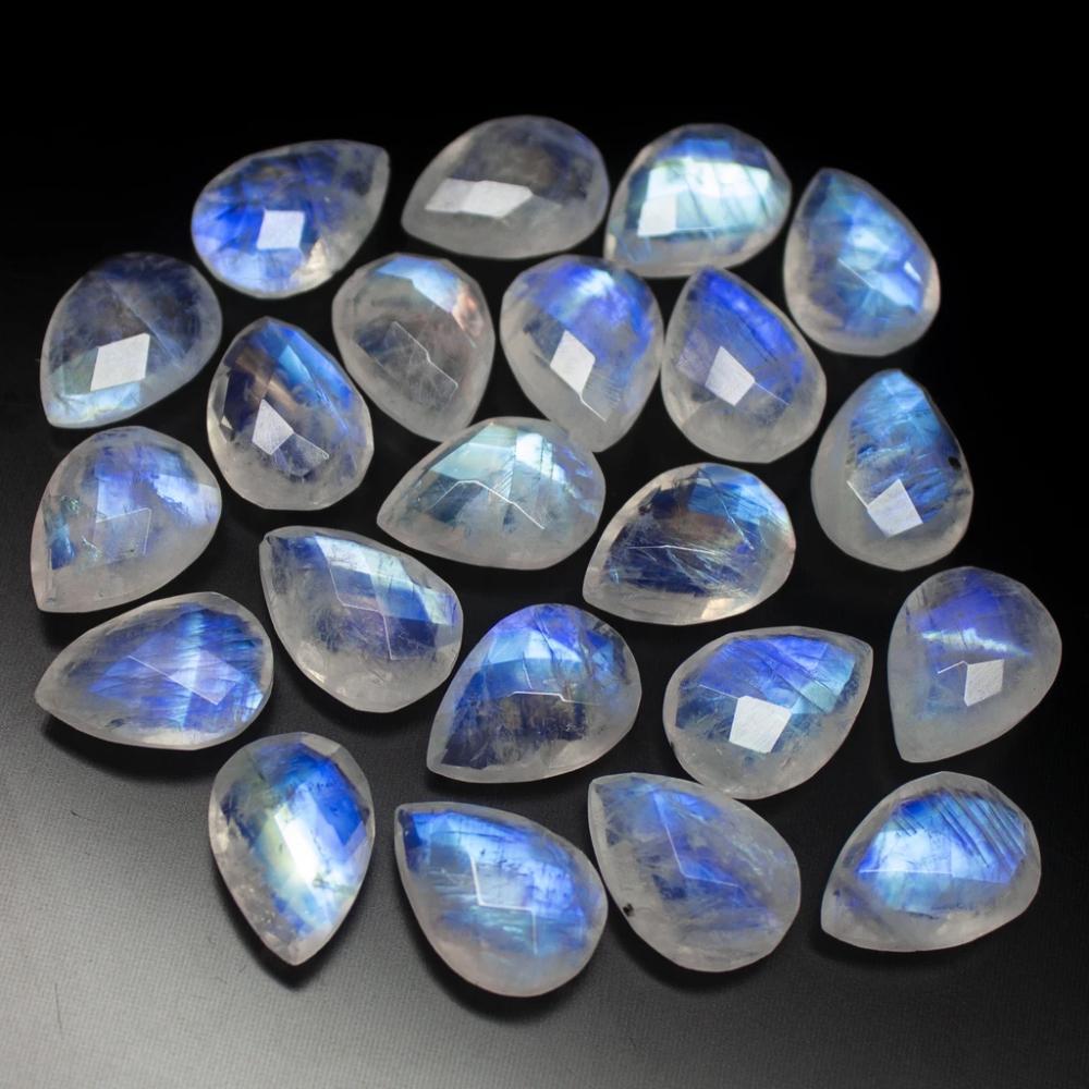 10 Opalite Moonstone Oval Beads 10 x 14mm