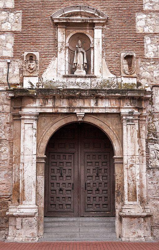 Portal of the Colégio Convent of San Agustin in Alcala de Henares (Madrid, Spain)