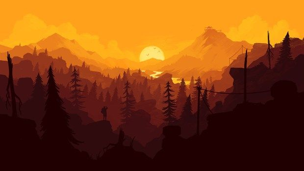 firewatchwallpaper3 Wallpapers in 2019 Landscape