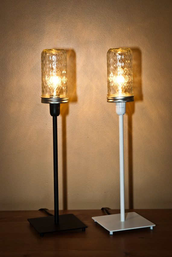 Ball Jelly Jar Table Lamp Modern Industrial By Vintagelightszone