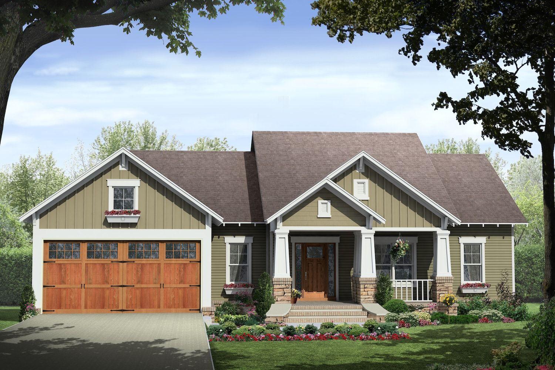 Craftsman House Plan 141 1238 3 Bedrm 1509 Sq Ft Home Plan Craftsman House Plans Ranch Style House Plans Craftsman Style House Plans