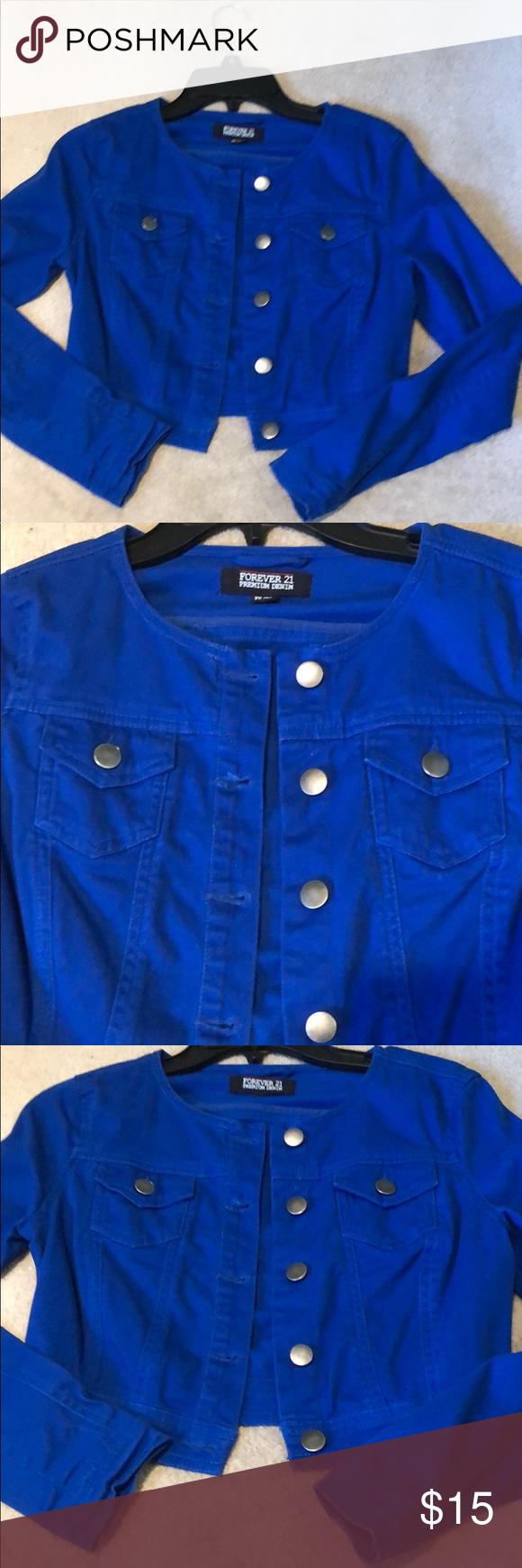 Cropped Royal Blue Jean Jacket Style Xsmall Jean Jacket Styles Blue Jean Jacket Royal Blue Jeans [ 1740 x 580 Pixel ]