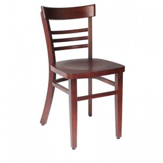 Chaise en bois café bistrot