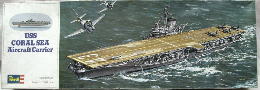 revell uss coral sea  cv