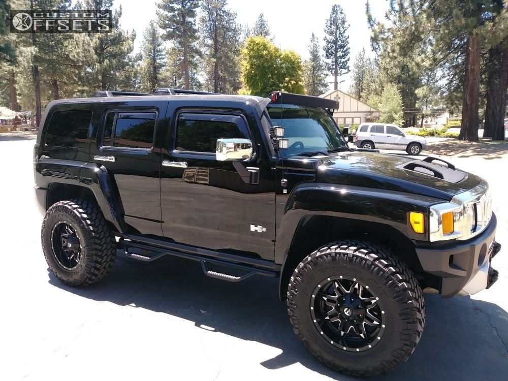 1 2009 H3 Hummer Heavy Metal Leveling Kit Fuel Lethal Machined Accents Hummer Truck Hummer Cars Hummer