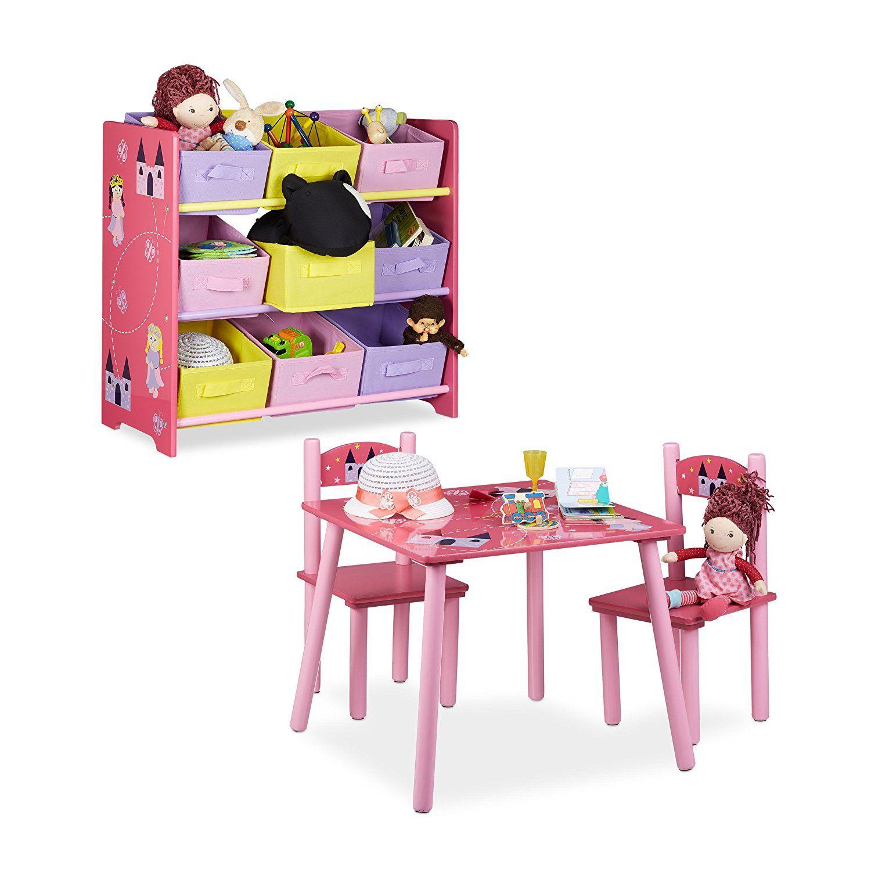 2 teiliges Kinderzimmer Set rosa, mit PrinzessinnenMotiv