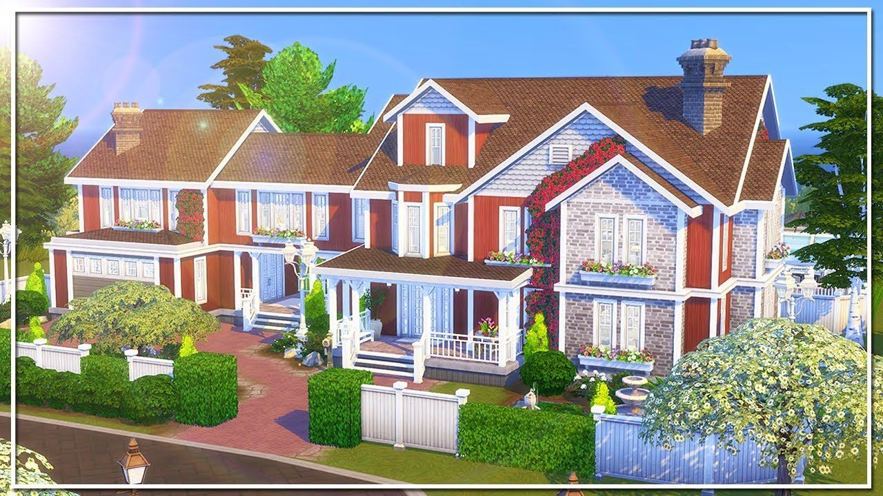 COUNTRY ESTATE The Sims 4 Speed Build NO CC Sims