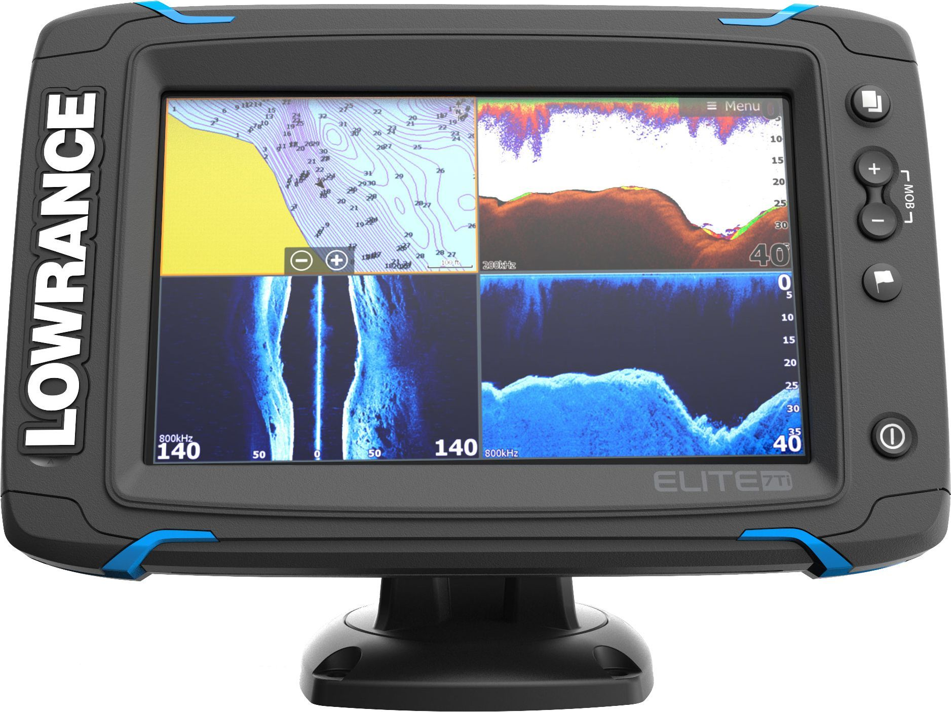 Lowrance Elite 7 Ti Gps Fish Finder With Mid High Totalscan 000 12419 001 Transducer Fish Finder Gps Units