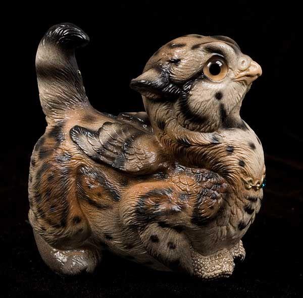 Crouching Griffin Chick - Ocelot, Fantasy Figurine $90.00