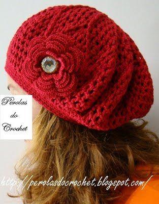 Pérolas do Crochet: Boina de croche Burguesinha PAP | crochê | Pinterest
