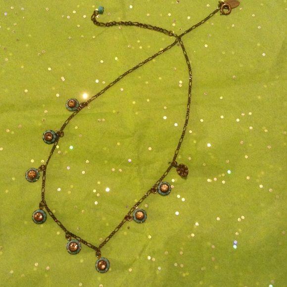 Liz Palacios turquoise and crystal necklace Stunning necklace by Liz Palacios turquoise necklace Liz Palacios Accessories