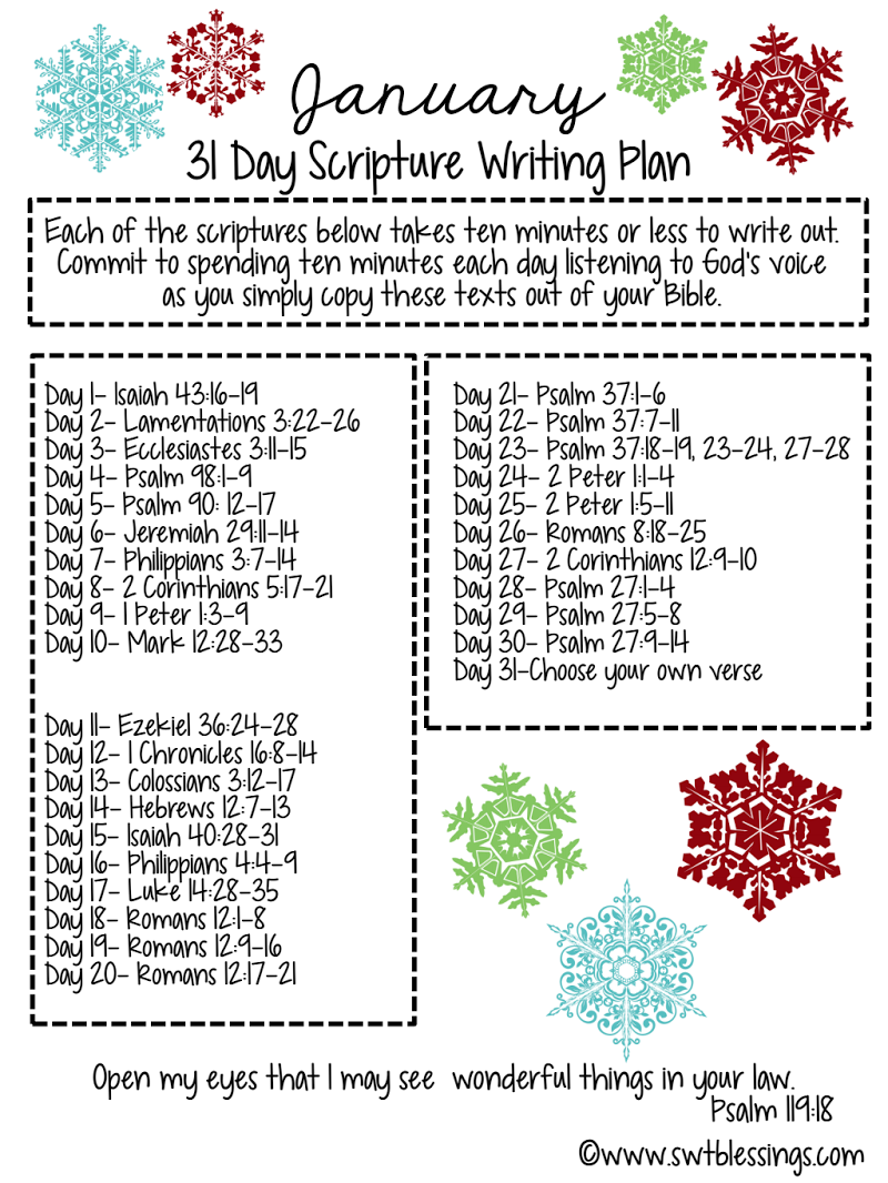 JANUARY SCRIPTURE WRITING PLAN pdf - Google Drive | God is