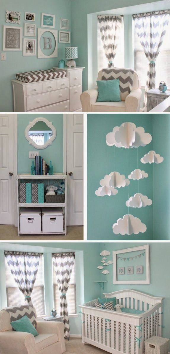 mint chevron baby nursery baby nursery decor pinterest kinderzimmer babyzimmer und. Black Bedroom Furniture Sets. Home Design Ideas