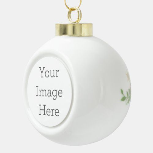 Create Your Own Ceramic Ball Ornament (Poinsettia)   Zazzle.com   How to make ornaments ...
