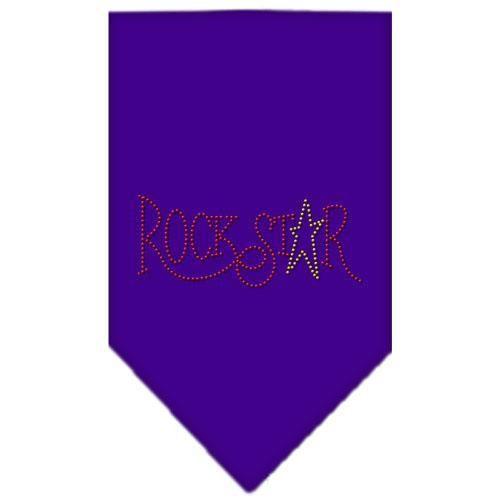"Rock Star Rhinestone Bandana Purple Small 14""x14"" square"