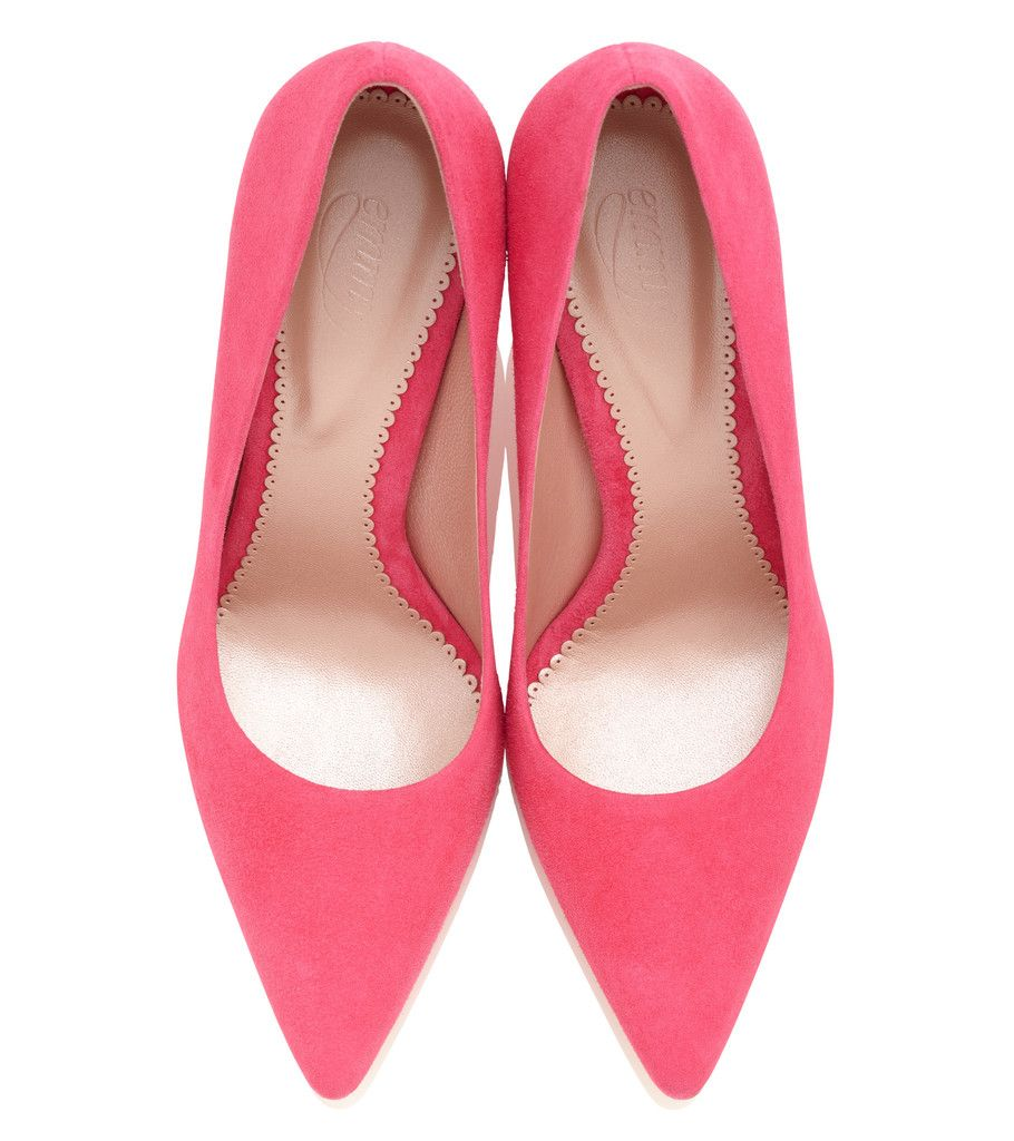 fa010cb89c6 Olivia Neon Pink Mid Heel Occasion Court Shoe