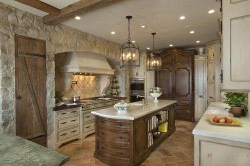 Liking this stone kitchen