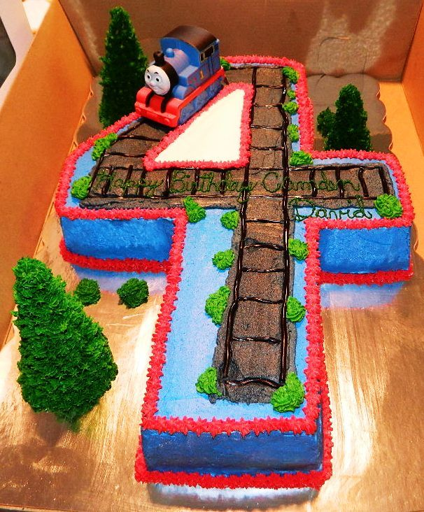 Miraculous 4Th Birthday Thomas The Train Cake With Images Thomas The Personalised Birthday Cards Sponlily Jamesorg
