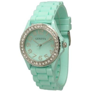green mint s watches color new feminino relogio in item brand famous sports dress quartz hot watch geneva silicone jelly women clock from