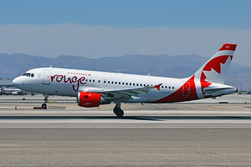Air Canada Rouge C FYNS Airbus A319 114 cnserial number ...