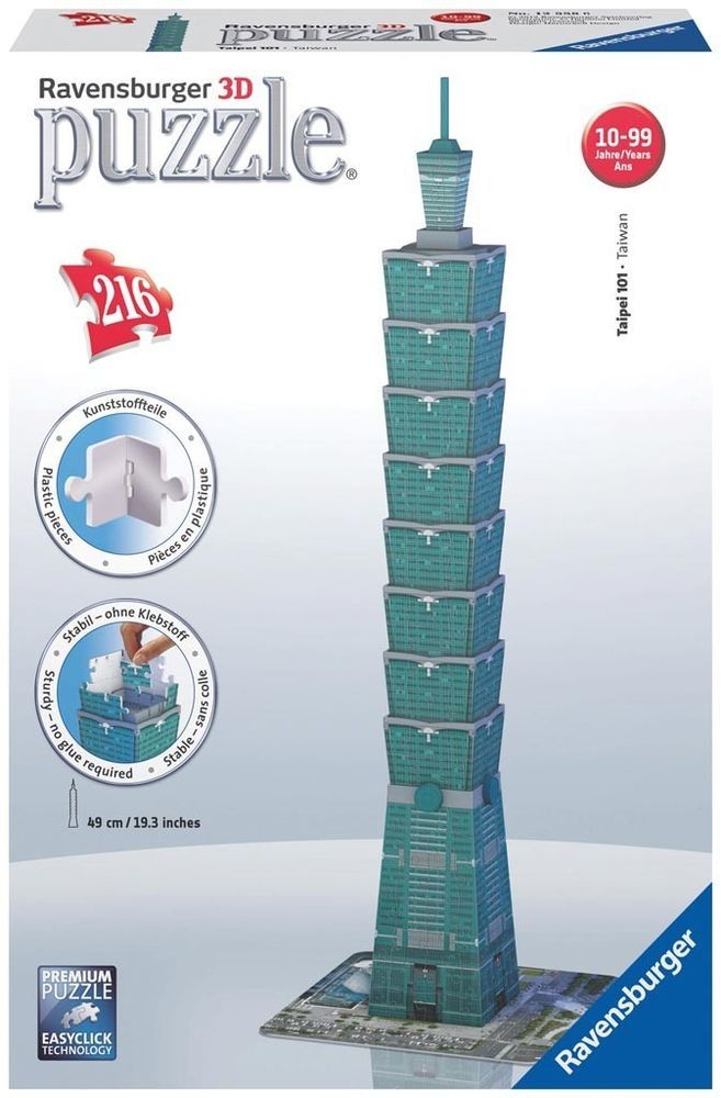 Puzzles & Geduldspiele Ravensburger 3D Puzzle Taipei 101 Taiwan